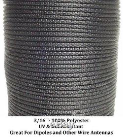 1000/' 1//8 100/% Dacron Polyester Rope Longwire Doomsday Prepper Dipole Antenna