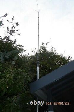 10,00 Meter KW-Vertikalantenne inkl. Antennenfuss, leichte Alu Mast, R118, R140