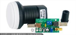 10 GHz LNB with TCXO for QO-100,10489 to 432 MHz with POTY adapter + bias tee
