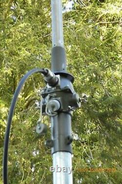 10 Meter KW-Vertikalantenne inkl. Antennenfuss, leichte Alu Mast, R118, R140
