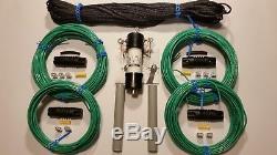 160/80 meter fan multiband antenna dipole HF W2AU Unadilla 11 BALUN W 200' ROPE