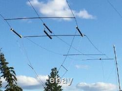 266 Multi-band (160-6) T3fd Terminated Folded Dipole Amateur Radio Antenna Kit