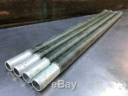 40 FEET-Antenna Tower Mast Pole4' RIBBED ALUMINUM-LOT of 10- 4 FOOT SECTIONS