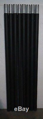 4' Smooth Wall Aluminum Antenna Portable Tower Mast Sections Unused Lot Of 8