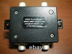 4-WAY HF ANTENNA SPLITTER COMBINER RX, 0.1-50 MHz, SO-239 connectors