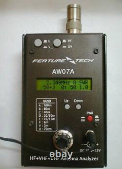 AW07A HF/VHF/UHF 160M 490Mhz Impedance SWR Antenna Analyzer Shortwave Ham Radio