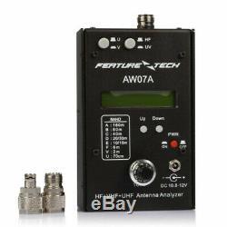 AW07A HF/VHF/UHF 160M Impedance SWR Antenna Analyzer For Ham Radio