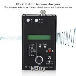 AW07A HF + VHF + UHF 160M Impedance SWR Antenna Analyzer For Ham Radio Hobbyists