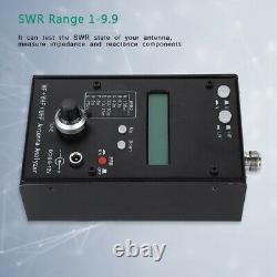 AW07A HF+VHF+UHF SWR Antenna Analyzer Tester Meter for Ham Radio Hobbyists Black