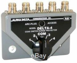 Alpha Delta 4 Bn Coaxial Antenna Switch Ham Radio Hf Vhf Uhf
