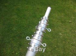 Aluminium telescopic mast, fixed 11.2m