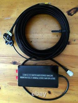Antenna Centrepiece, 20m 95 ohm low TVI low noise twin feeder, & 11 Balun