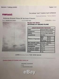 Antenna HF Maldol VK-5Jr 3,5/7/14/21/28 mhz 200 Watt
