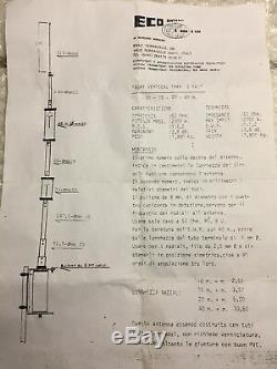 Antenna hf verticale Asay Vertical Trap 2000 Watt ECO Antenna 7/14/21/28 Mhz