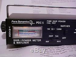 Astatic Para Dynamics Cb Ham Radio PDC5 Power SWR Watt Meter ANTENNA TUNER