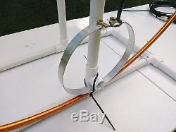 COMBO High Power Multiband Magnetic Loop Antenna 10-60 Mts + 33 FT Low Loss Coax