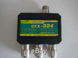 Comet CFX-324B 2M/220/70cm Ham Radio/ Antenna Triplexer W 3 SO239 Connectors FS