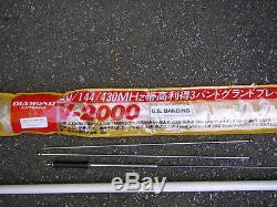 DIAMOND V-2000 ANTENNA 50/144/430MHz 2.15/6.2/8.4dB 1.8m