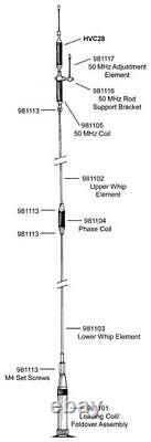 Diamond Antenna HV7A Quad Band 10m/6m/2m/70cm Mobile antenna with UHF Base