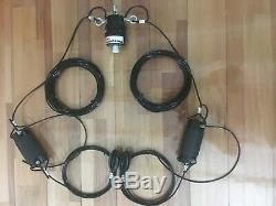 Dipole 40 80 meters band antenna for ham radio