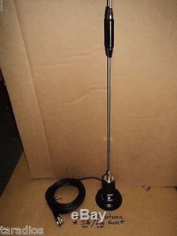 Dual Band Magnetic ANTENNA KIT 2 Meter 144 / 440 Mhz NMO TRAM 1180 VHF UHF Gain