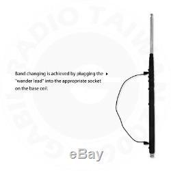 GRA-1899T Multiband HF (80m-6m) 3.5-50MHz Handheld Portable Telescopic Antenna