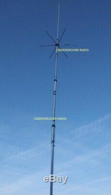 HUSTLER 4BTV 4-Band HP Vertical HF Antenna 10 11 15 20 40 Meters for Ham Radio