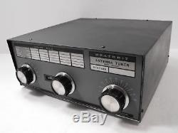 Heathkit sa-2040 3. 5 30 mhz manual antenna tuner for ham radio sn.