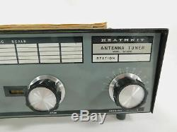 Heathkit SA-2040 Vintage 2KW Ham Radio Antenna Tuner with Manual Works Great