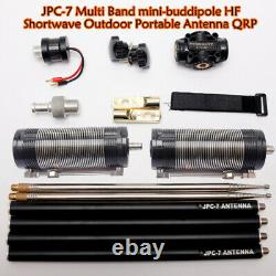 JPC-7 Multi Band mini-buddipole HF Shortwave Outdoor Portable Antenna QRP 2021