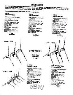 JoGunn 3x3 star 10/11 meter Base Antenna