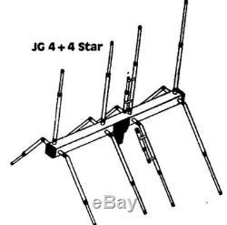JoGunn 4x4 star 10/11 meter Base Antenna