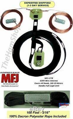 MFJ 1778 G5RV 10-160 Meters Wire Antenna, 10 80 Meters As Dipole 160 As Marconi