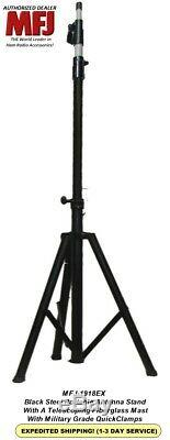 MFJ-1918EX Black Steel Portable Antenna Tripod with 9.5' Telescoping Mast