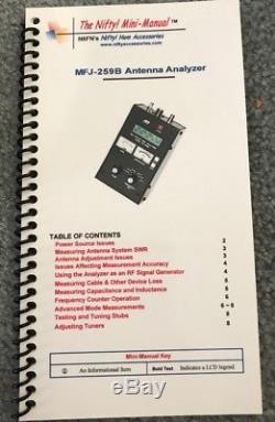 MFJ-259B Antenna Analyzer ham radio test measurement