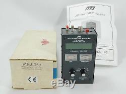 MFJ-259 Ham Radio 1.8-170MHz HF/VHF SWR Antenna Analyzer with Box + Manual