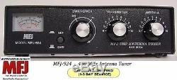 MFJ 924 Antenna Tuner 440 MHz SWR & Wattmeter 440 MHz. 300 Watts