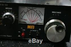 MFJ-962D Ham Radio 1.5kw Roller Inductor Antenna MFJ Versa Tuner III / UNTESTED