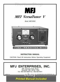 MFJ-989D Legal Limit 1.8-30 MHz Antenna Tuner 1500 Watts Includes MARS/WARC band