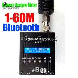 MR300 1-60M Bluetooth Digital Shortwave Antenna Analyzer Meter Tester Ham Radio