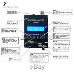 MR300 Digital Antenna Analyzer Bluetooth Shortwave Meter Tester 1-60M Ham Radio