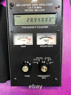 Mfj 259 Hf/vhf Antenna Swr Analyzer And Freq Counter For Ham Radio Amateur