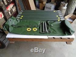 Military Used Ribbed 4' Aluminum Antenna Tower Mast Section Economy Mast Kit V2
