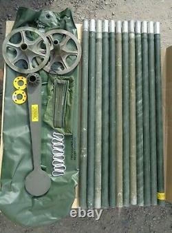 Military Used Smooth 4' Aluminum Antenna Tower Mast Section Economy Mast Kit V2c
