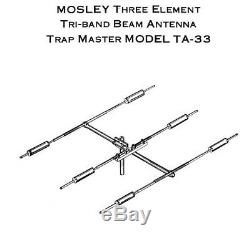 Mosley Ta-33-m Ham Radio Antenna, 6' W8io Tower, Cd-45ii Rotor & 100' Cables