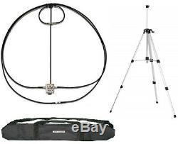 NEW Design! 100 Watt 10-40M +20W 60/80M Magnetic Alpha Loop Antenna