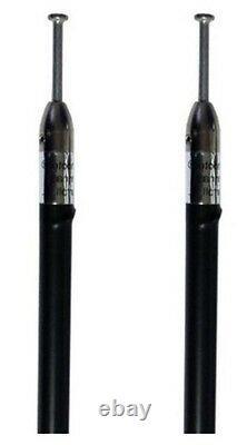 NEW SKIPSHOOTER BLACK 7 FOOT CB, HAM 3000 WATT ANTENNAS USA MADE! 2 items