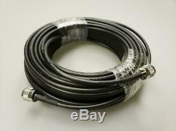 New Antron 99 Cb, Ham Base Antenna & 50' Lmr240 Rg8x Coax Cable 95% Shielded A99