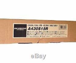 New Diamond A430S15R(Single) 430-440MHz 70cm 14.8dBi 15element Yagi/Beam Antenna