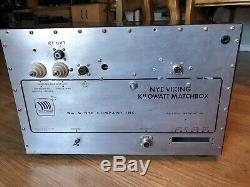 Nye Viking KW Matchbox Antenna Tuner Scarce Ham Radio